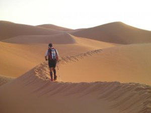 Participating in the 2009 Abu Dhabi Adventure Challenge, trekking through the Empty Quarter